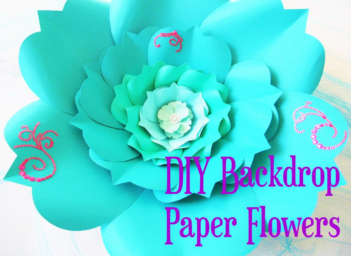 Snap Easy Diy Giant Paper Flowers Templates And Tutorials Large