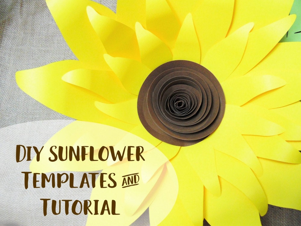 Giant paper sunflower template patterns and tutorial svg cut zoom pronofoot35fo Choice Image