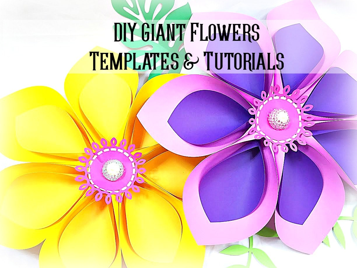 giant hawaiian paper flower templates  u0026 tutorial paper flower