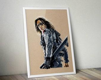 Winter Soldier - Fine Art Print - A4