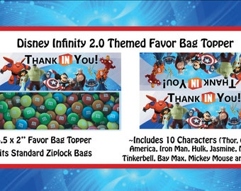 Disney Infinity 2.0 Themed Bag Toppers