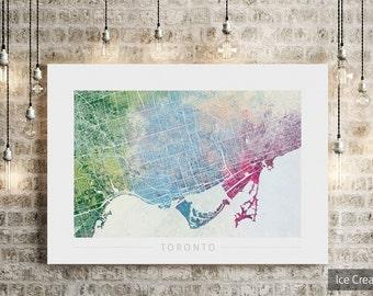 Toronto Map Etsy - home decor toronto ontario