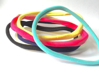 Nylon Headbands Wholesale - Various Colours - Nylon Headbands - Pack Of 5