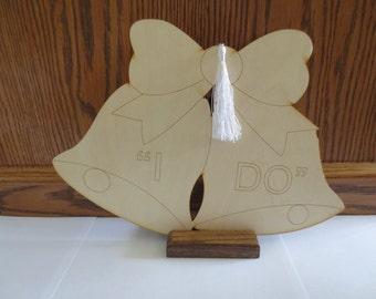 Wooden wedding bell