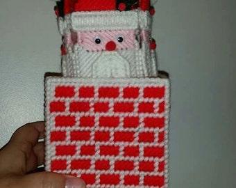 Handmade Santa Chime in Chimney Box