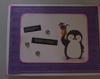 Birthday card - Penguin