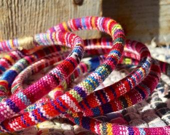 5 large flexible ethnic bangles