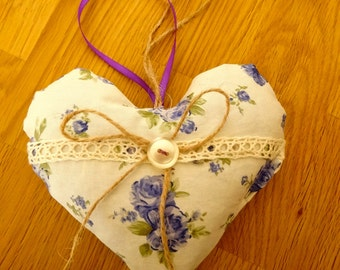 Floral Lavender heart, heart filled with Lavender