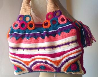 crochet bag with beads