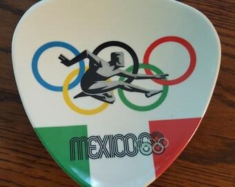 Official 1968 Mexico Olympics plastic trivet