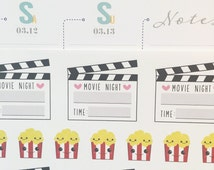 Movie Planner Stickers (MS-MOVIES)