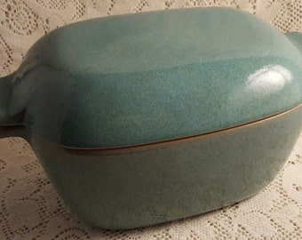Glidden Casserole Turquoise Stoneware