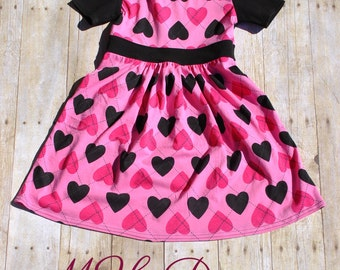 Pink and Black Heart Dress