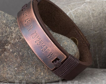 EXPRESS SHIPPING.Personalized Leather Men Bracelet.Mens Leather Bracelet.Custom Mens Leather Bracelet.Unisex Bracelet.Mens Leather Bracelets