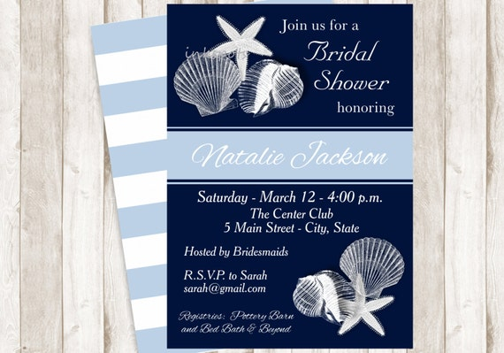 Nautical Bridal Shower Invite Printable