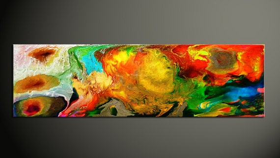 Epoxy Painting Art : Colorful abstract painting epoxy resin art fluid acrylic
