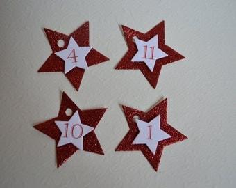 Advent calendar numbers star