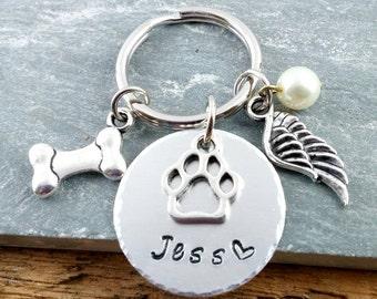 Dog Memorial ~ Dog Loss ~ Pet Loss~ Custom Dog Tag ~ Custom Pet Tag ~ Dog Remembranc~ Personalized Dog Keychain