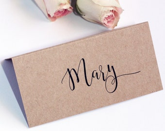Kraft Paper Place Cards, Name Card, Modern & Nice, Digital File or Printed Cards