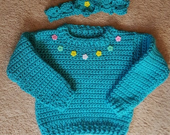 Sweater with Headband Size 3/4