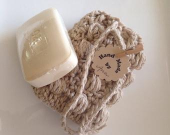 Crochet soap sack, soap saver bag. Soap holder. Handmade.