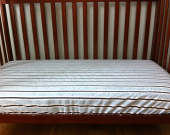 Fitted crib sheet Stripes