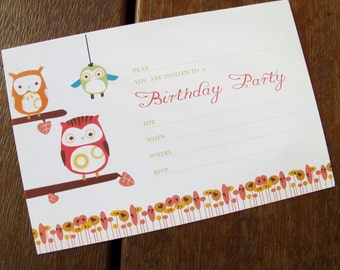 Owl of a time - Printable Invitation