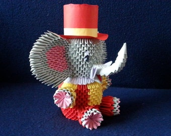 3D origami elephant