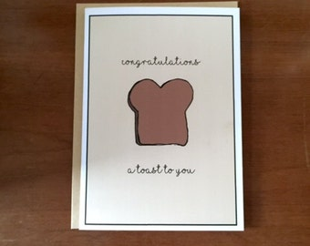 A Toast to You Greeting card