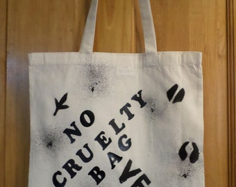 Vegan cotton shopping bag