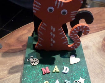 Mad cat lady letter rack ~ Perfect for cat lovers