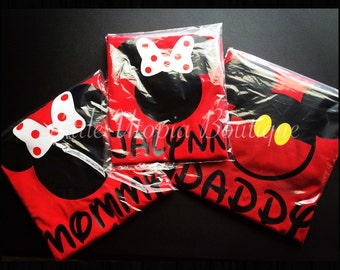 Mouse Ears shirts, Disney inspired personalized shirts