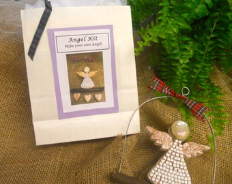 Angel,mosaic kit, Christmassy angel, fun for everyone, ideal for beginners, make your own decoration