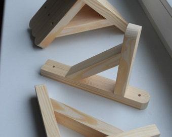DIY Rustic Shelf Bracket Hangers Lip Metal Shelve by 2Pshop