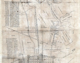 1819 Map of New Orleans Louisiana