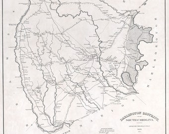 1825 Map of Darlington County South Carolina
