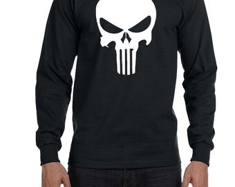 Punisher Shirt, The Punisher Shirt, Custom Punisher Shirt, Halloween Shirt, Long Sleeve