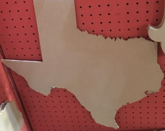 """12"""" Unfinished Wood Texas Cutout"""