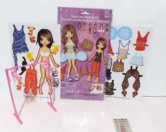 Paper Doll Dress up kit - 91 pieces - Cheerleader