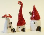 Red roof fairy houses