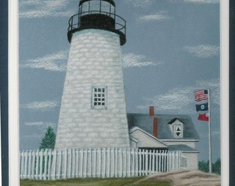 Pemaquid Lighthouse Pattern in colored pencil