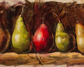 Pears.  Kitchen still life.