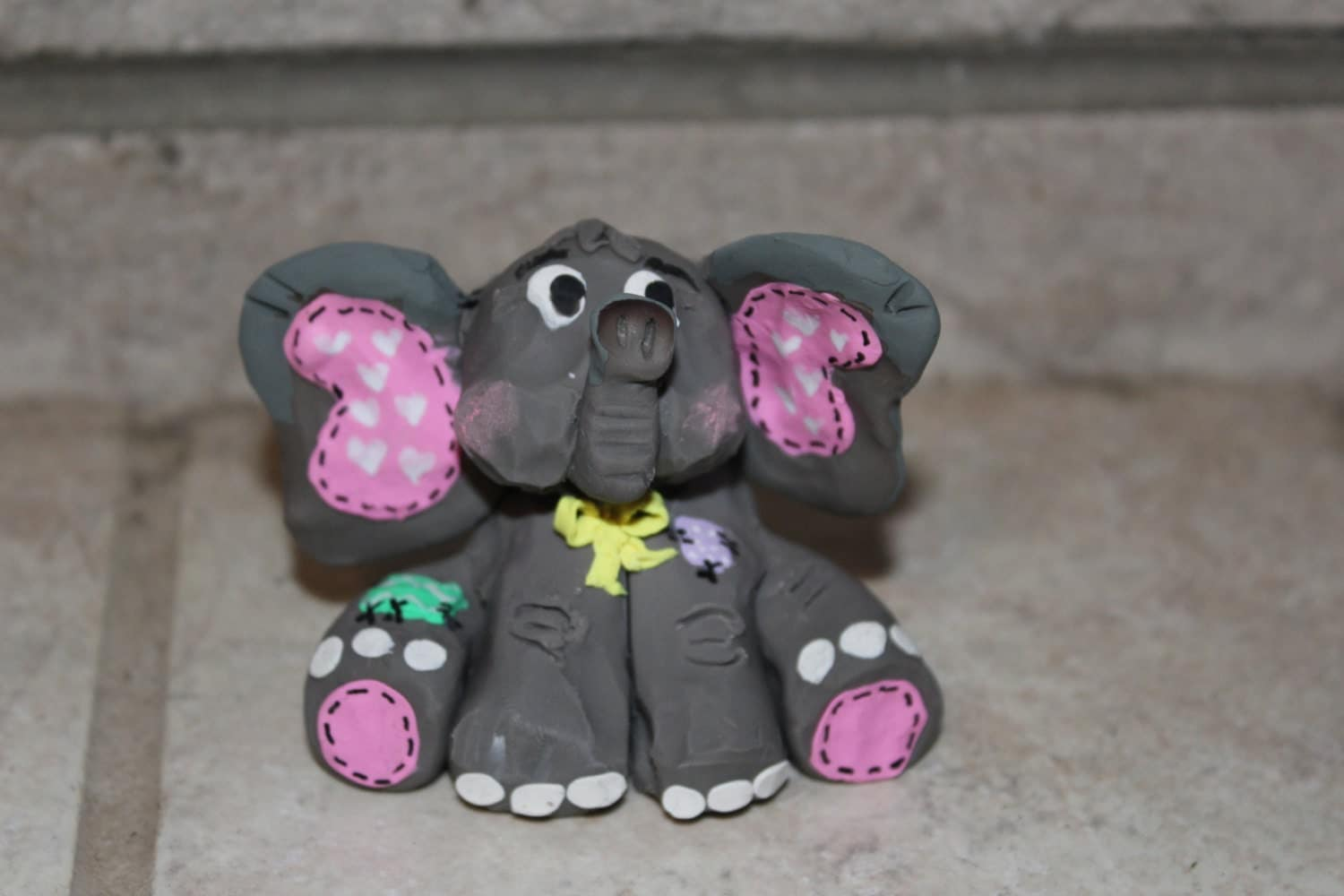 elephant cake topper baby shower polymer clay