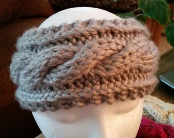 Knitted cable headband