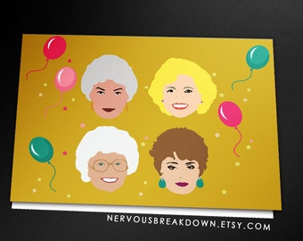 Golden Girls Birthday Card - PRINTABLE CARD