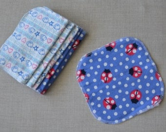 Reusable cloth diaper or bath wipes - set of 10