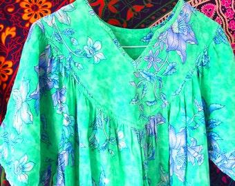 1970s Bohemian Hippie Maxi Dress