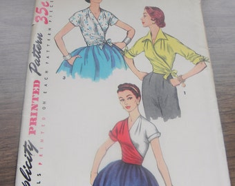 FIVE Simplicity 1950's Vintage Sewing Patterns