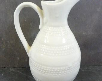 French vintage vinaigrette jug, cream jug.