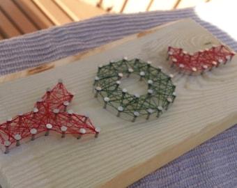 JOY - nail string art